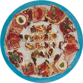 Alimentos cubiertos con film transparente