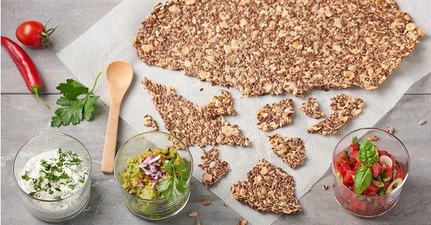 Galletas saladas ligeras con semillas
