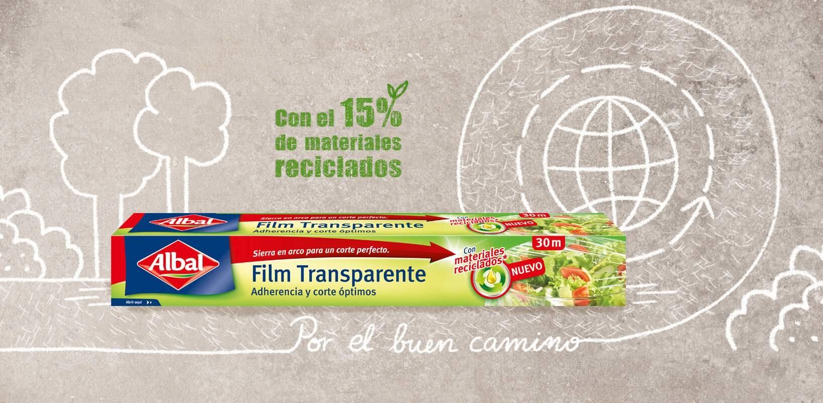Nuevo film Transparente Albal® Sostenible