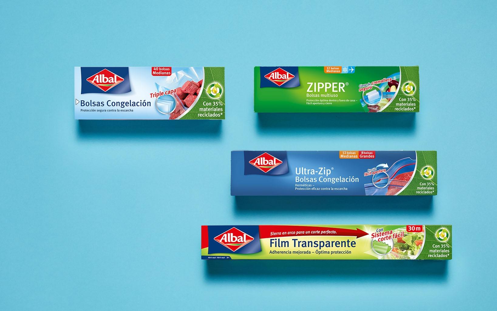 Productos Albal® con un 35% de materiales reciclados