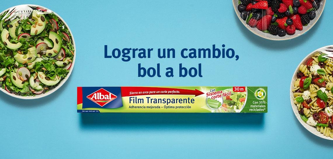 Productos Albal®  fabricados con un 35% de material reciclados.