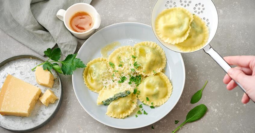 Receta Albal® Raviolis de espinaca y ricota, un plato extraordinario y además saludable.
