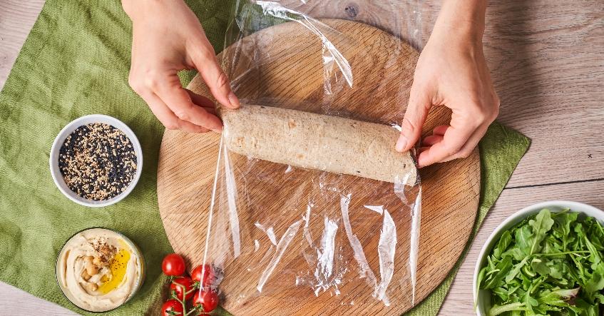 Receta Albal®: Wraps recién hechos para llevar y disfrutarlos al sol con Film Albal®