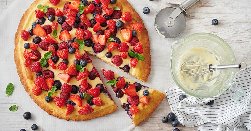 Receta Pizza de Frutos Rojos con Papel Horno Albal®