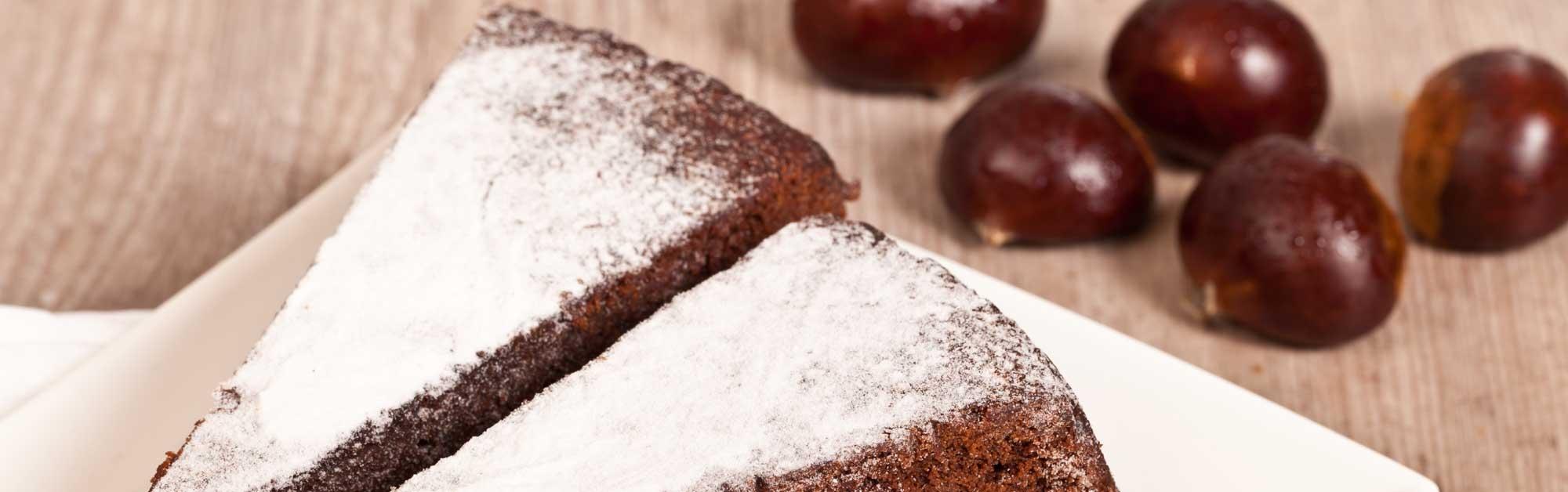 Tarta de castañas al chocolate