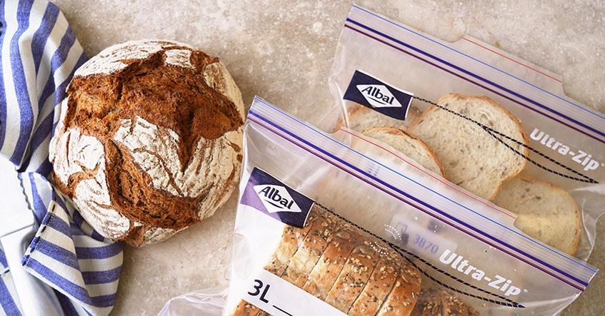 Truco Albal®: Congelar Pan en las Bolsas Congelación Ultra-Zip®Albal®